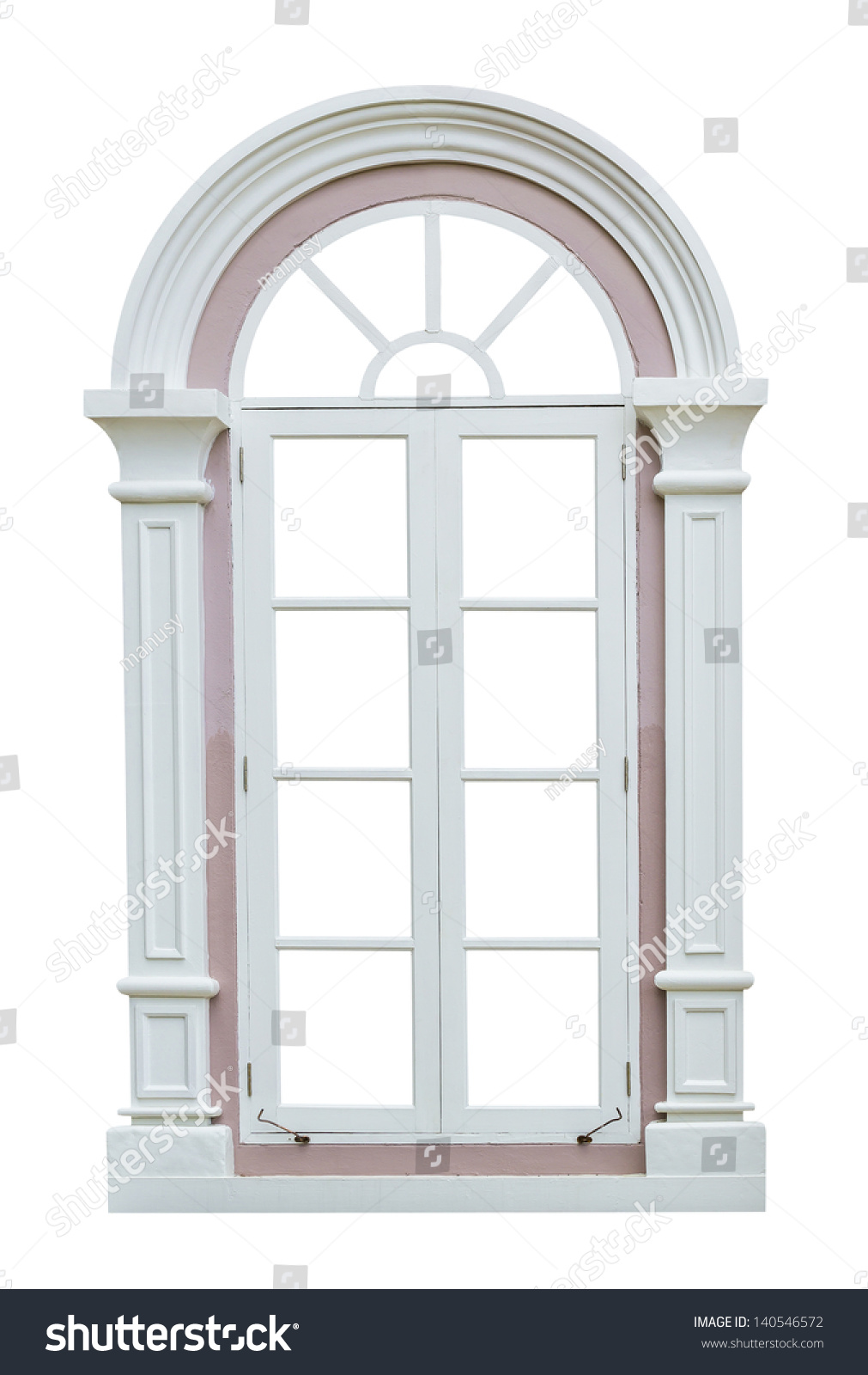 White window frame - Classic Window Frame Isolated On White Background