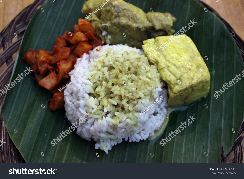 Makanan Tradisional Indonesia Makan Malam Nasi Stock Photo Edit