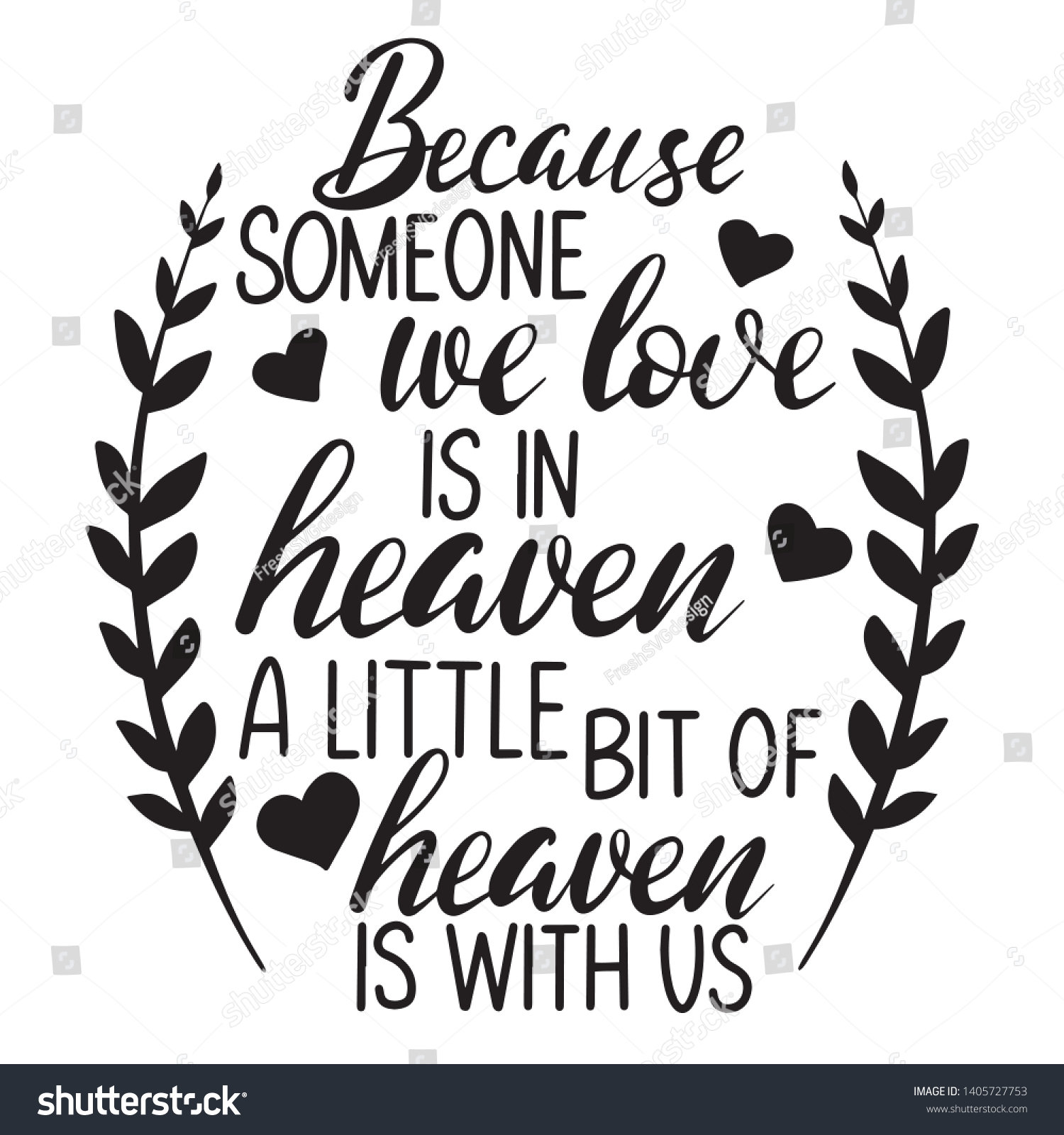 Because Someone We Love Heaven Little Stock Vector Royalty Free 1405727753