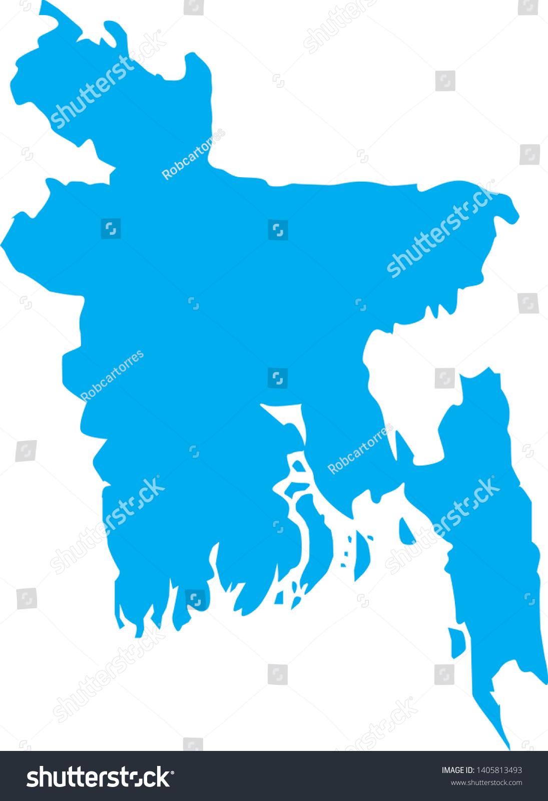 Political Map Bangladesh White Background Stock Vector