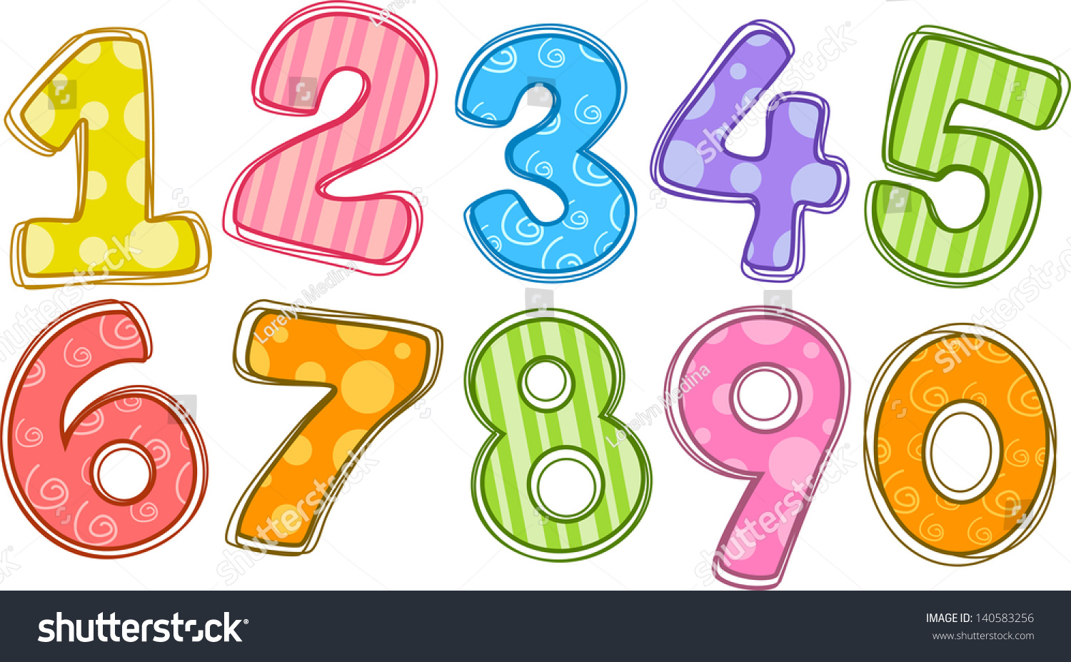 Stock Vector Illustration Of Colorful Numbers on Color By Numbers For Kids