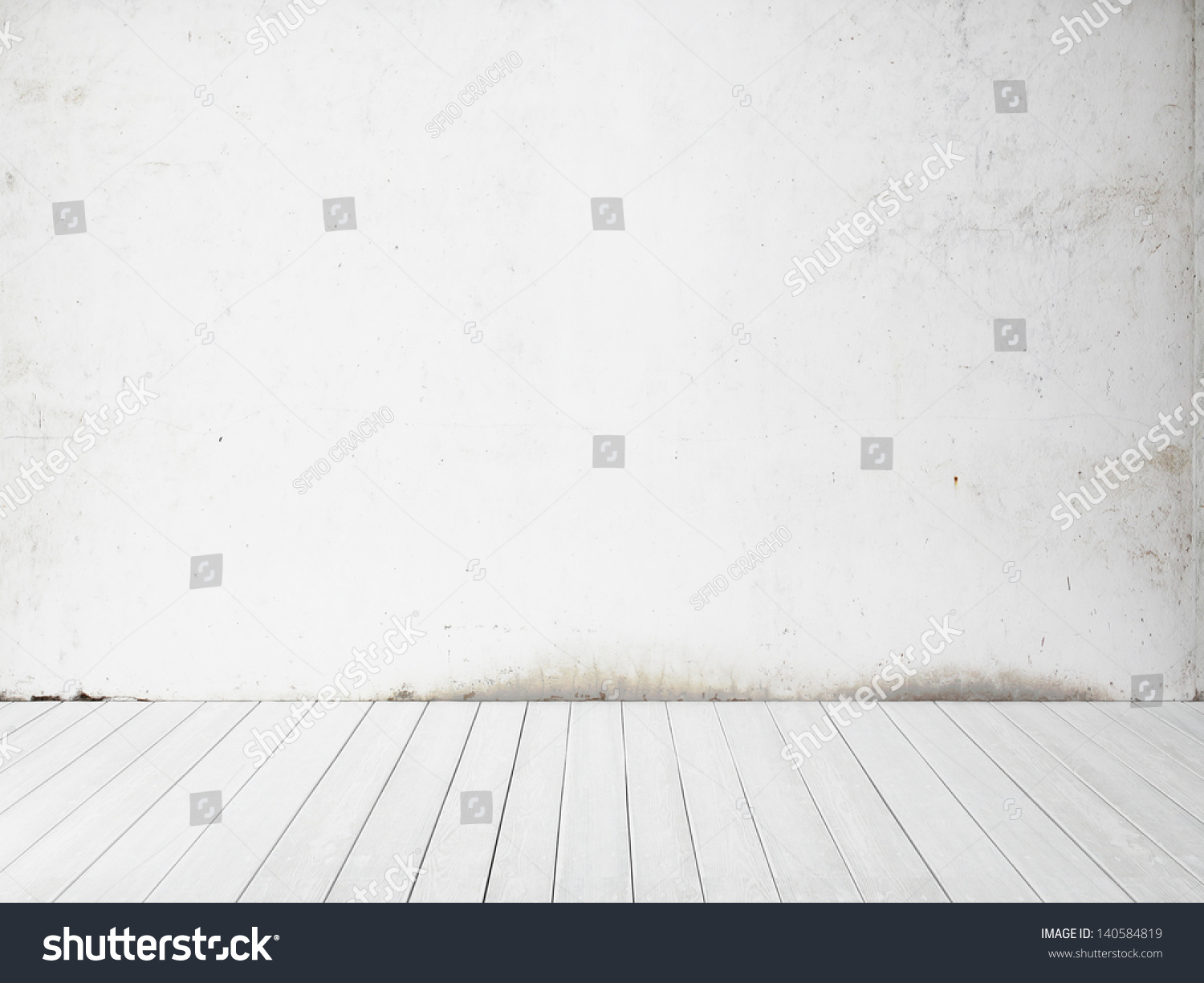 White Wall And Floor Background Stock Photo 140584819 ...