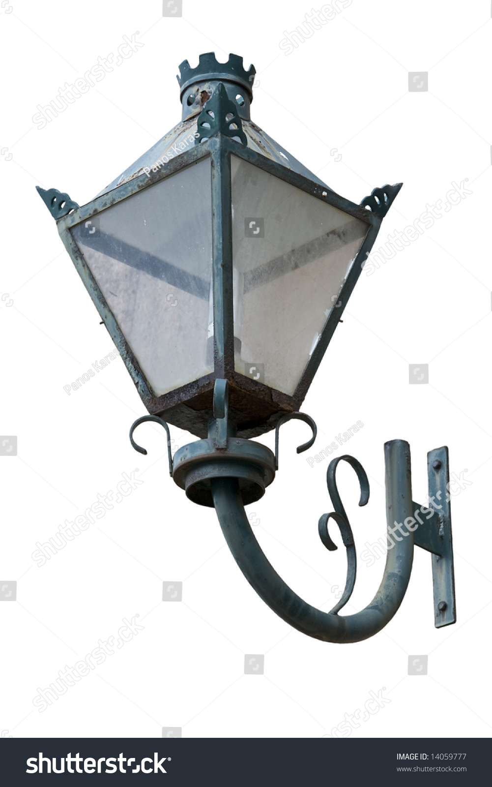 Wall Mounted Street Lamps : Old Traditional Wall Mount Street Lamp Stock Photo 14059777 : Shutterstock