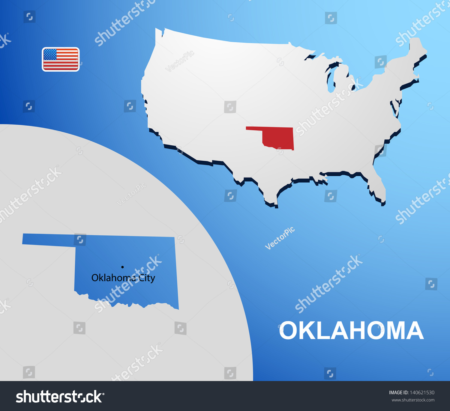 Oklahoma On Map Map Wyoming Map Of The State Of Florida - Us map oklahoma