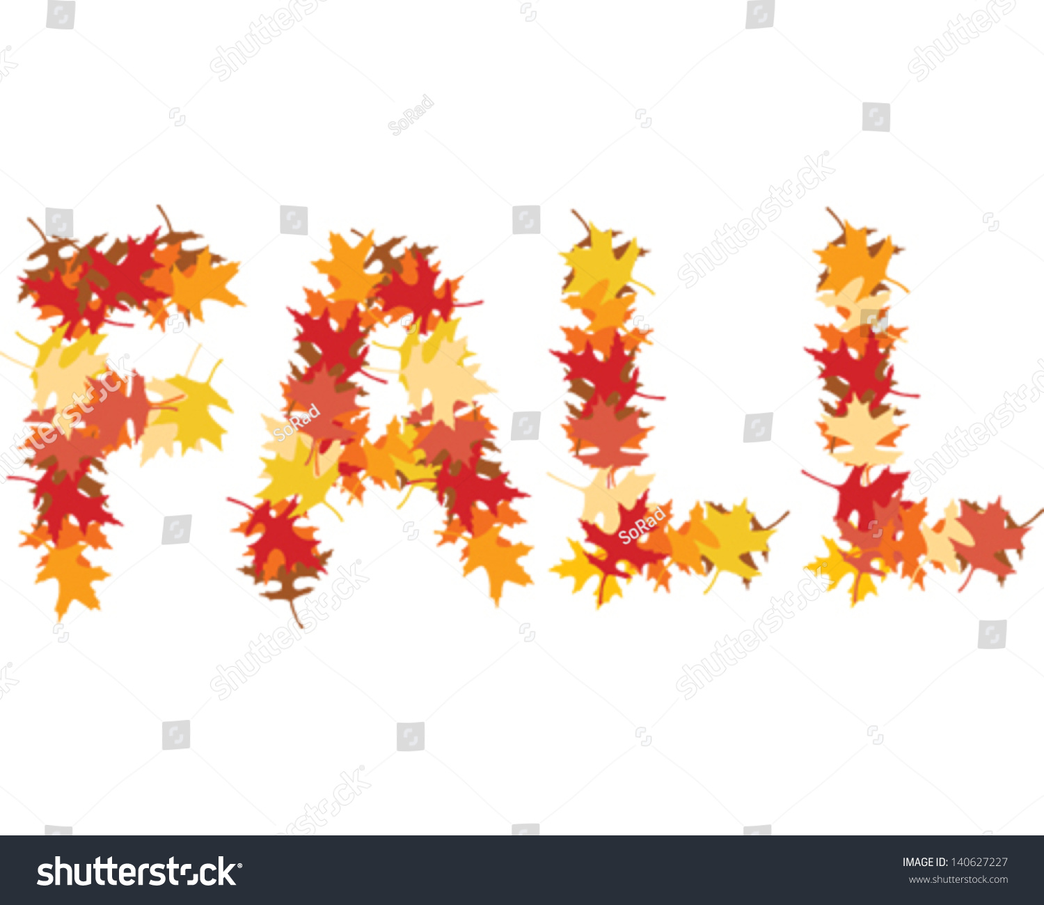 fall word stock vector royalty free 140627227 shutterstock