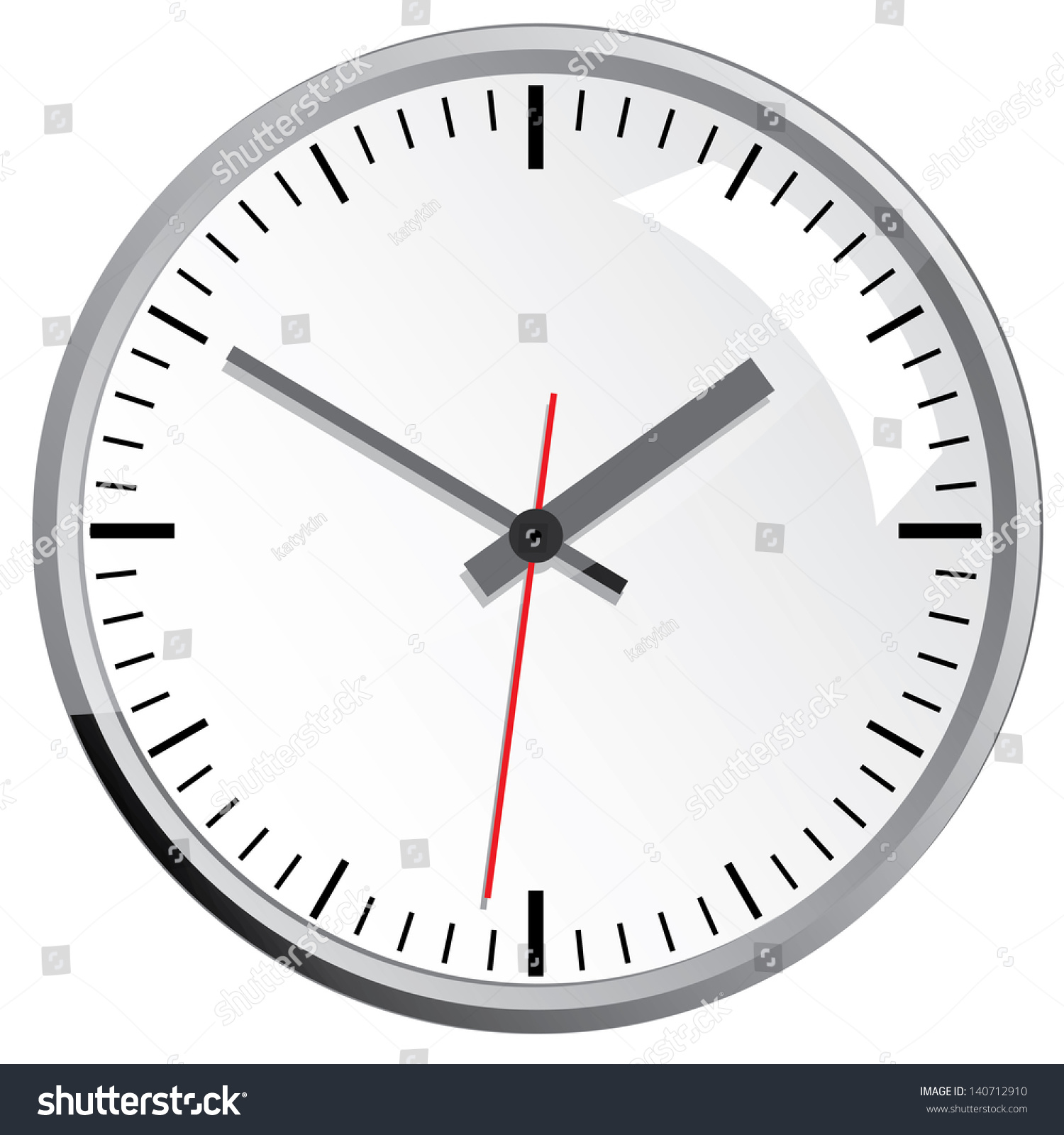 Wall mounted digital clocks wall mounted digital clock stock vector 140712910 shutterstock amipublicfo Image collections