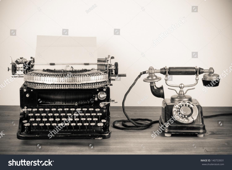 vintage style typewriter
