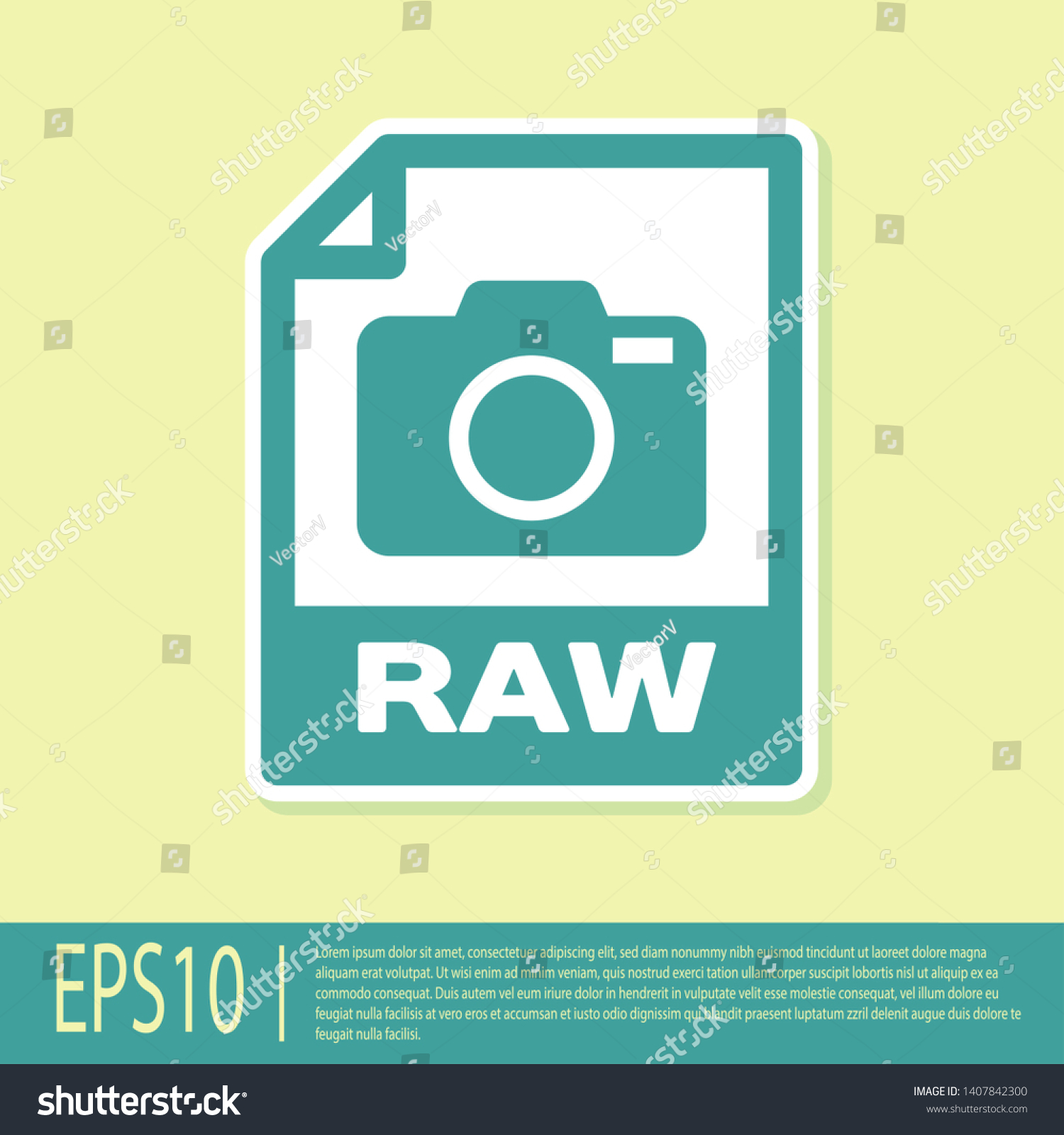 Green Raw File Document Icon Download Stock Vector (Royalty Free