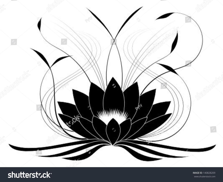 Black Lotus Stock Vector Royalty Free 140828209 Shutterstock