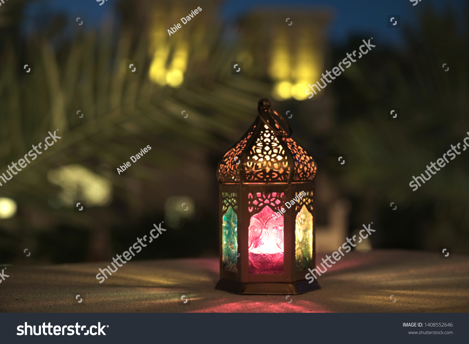 The spirit of Ramadan, a lantern decor in the heritage village area #1408552646