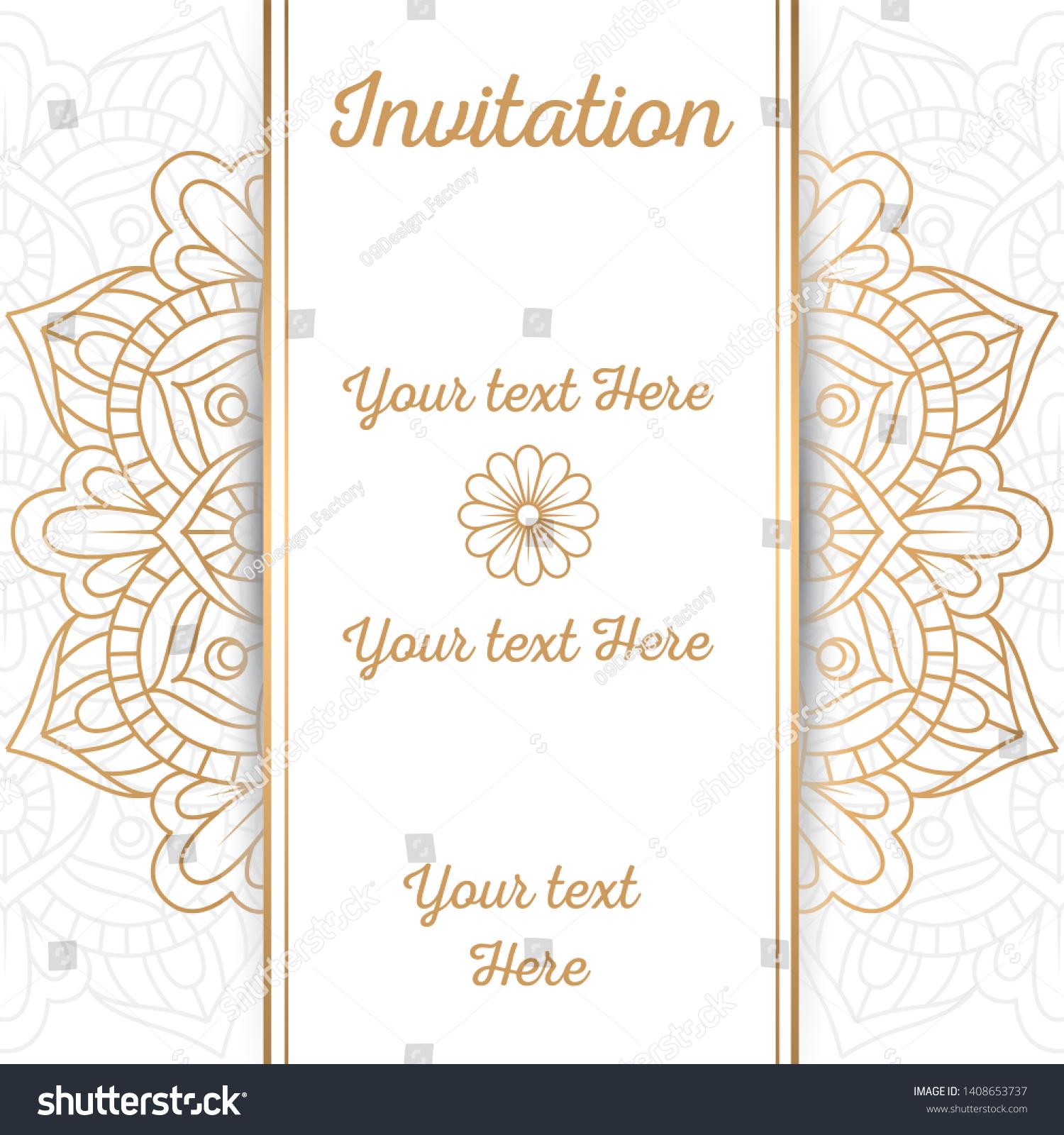 mandala vintage wedding invitation card mandala stock vector royalty free 1408653737 shutterstock