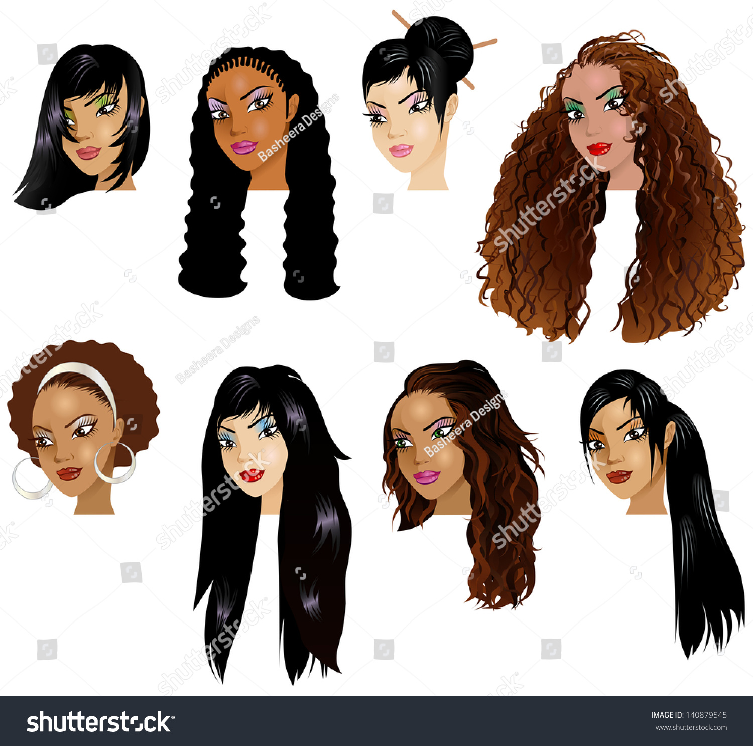 Image result for vector illustration of black women