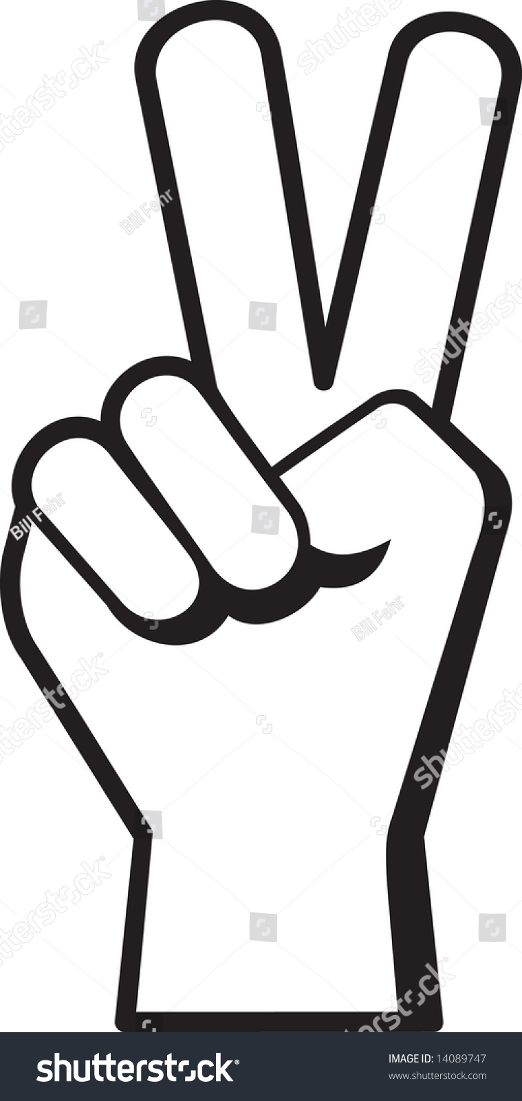 peace hand sign symbol stock vector 14089747 shutterstock