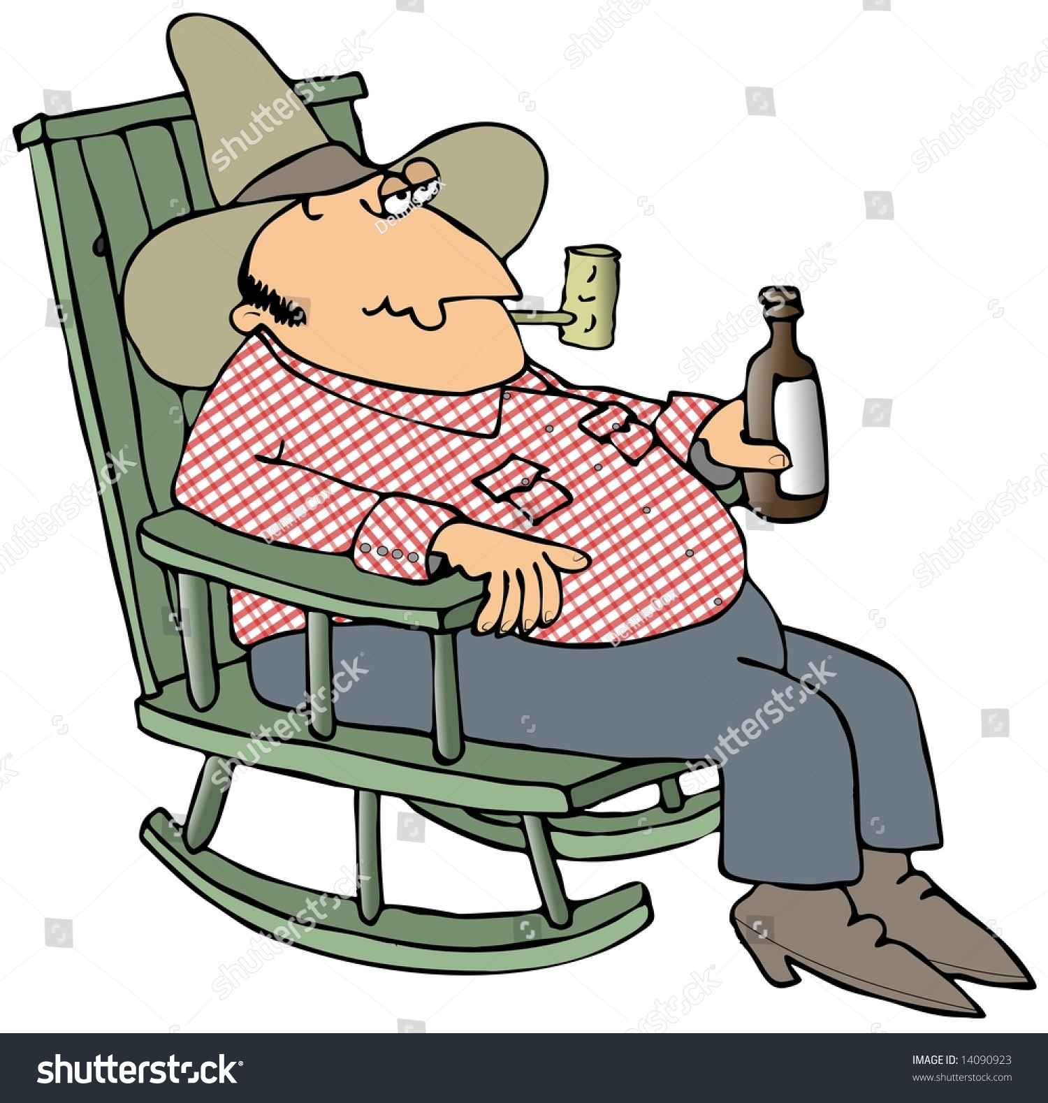 Hillbilly In A Chair Stock Photo 14090923 : Shutterstock