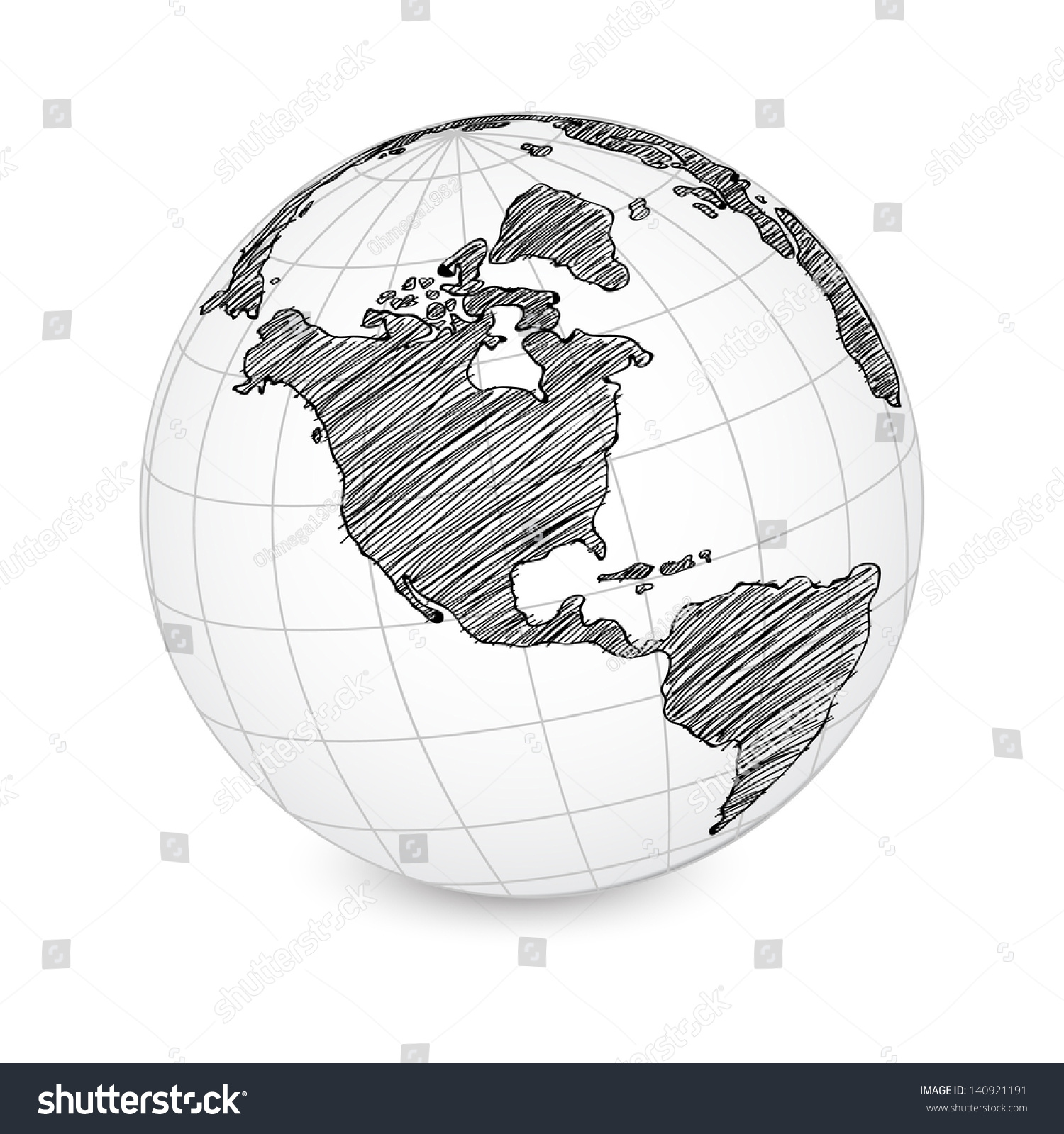 World map earth globe vector line vector de stock140921191 shutterstock world map earth globe vector line sketched up illustrator eps 10 gumiabroncs Image collections