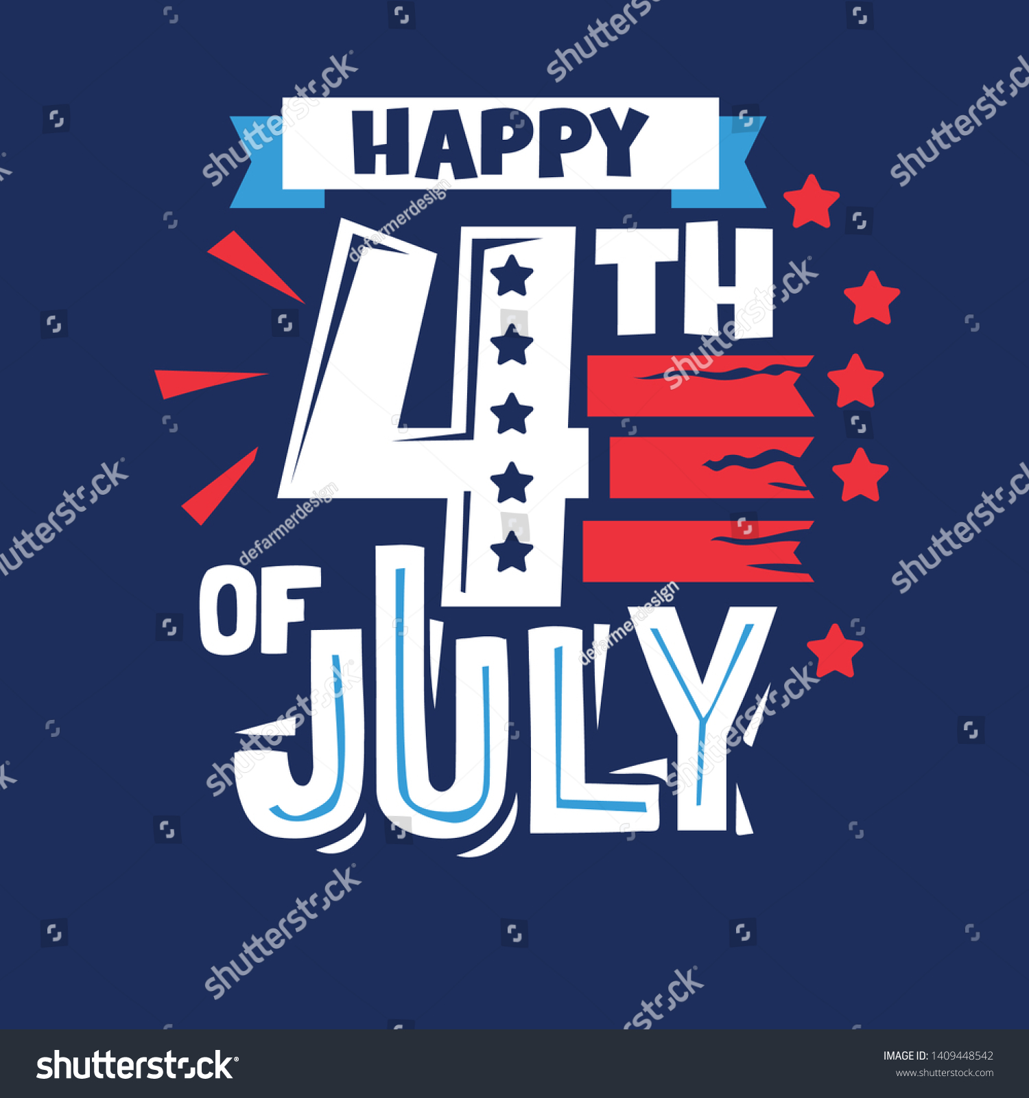 happy th phrase independence day stock vector royalty