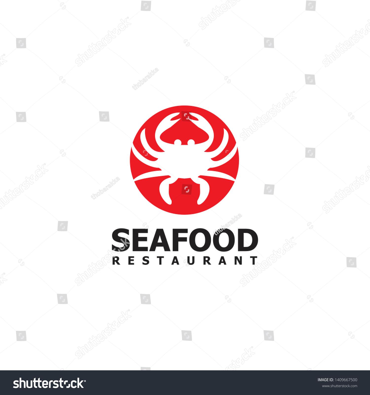Vector De Stock Libre De Regalias Sobre Crab Seafood Restaurant Logo Design Vector1409667500