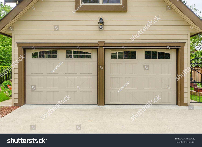 Fragment Luxury House Garage Door Vancouver Stock Photo Royalty