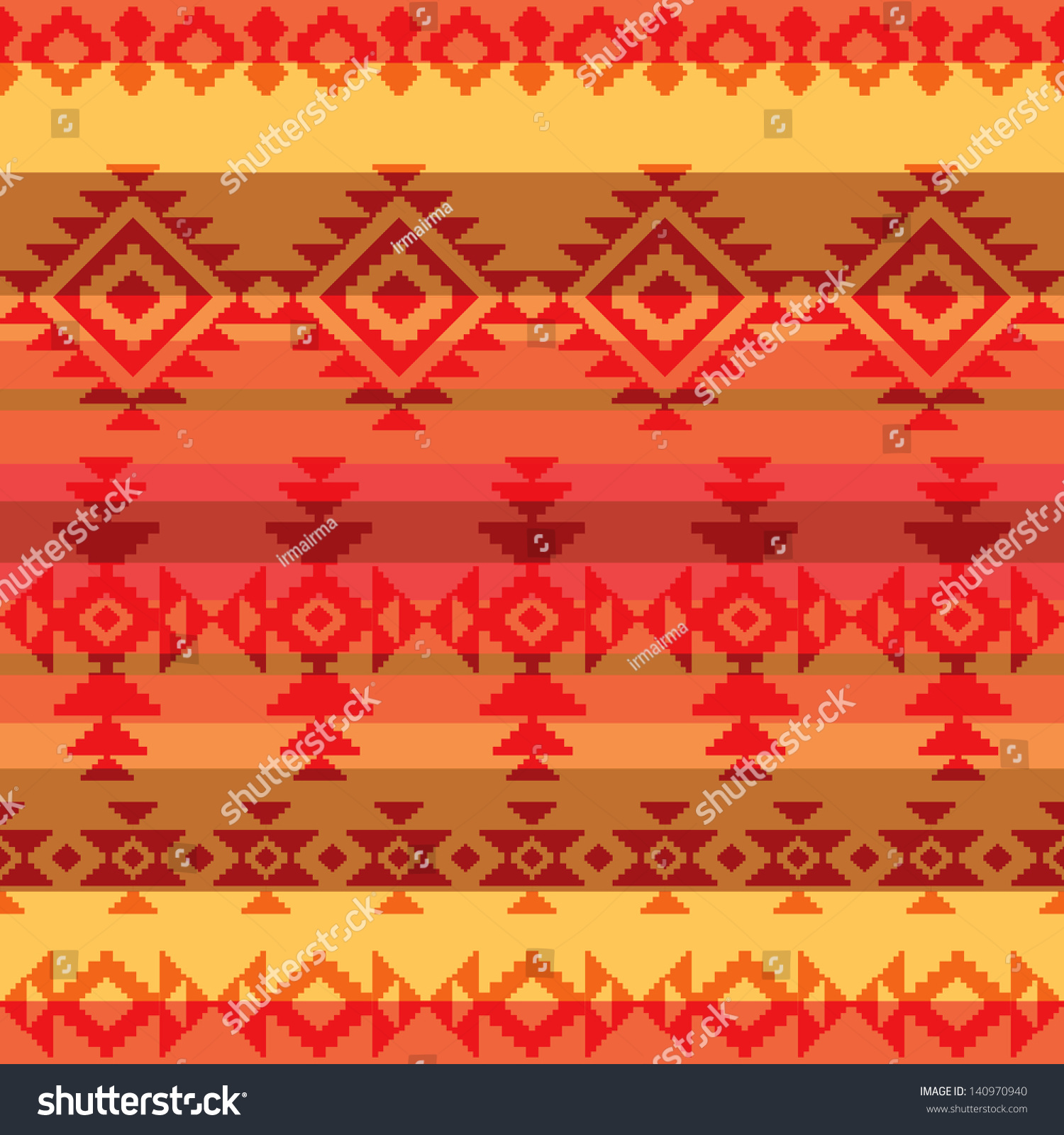 Traditional Indian Style Interior Design: Traditional American Indian Style Seamless Pattern Stock