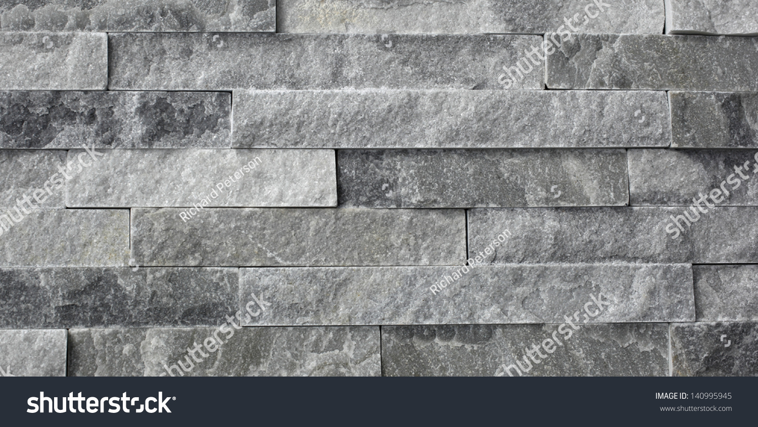 Natural Stone Granite Pieces Tiles Walls Stock Photo 140995945 ...