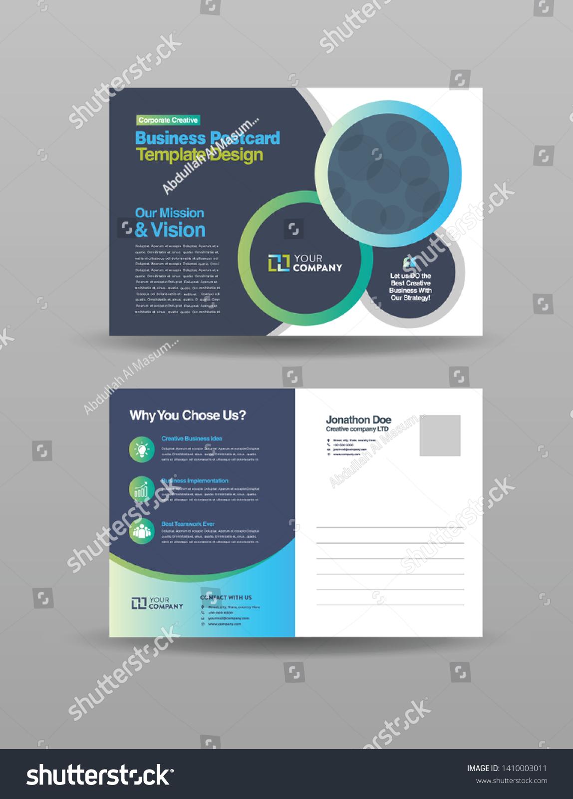 Corporate Professional Business Postcard Design Event Stock