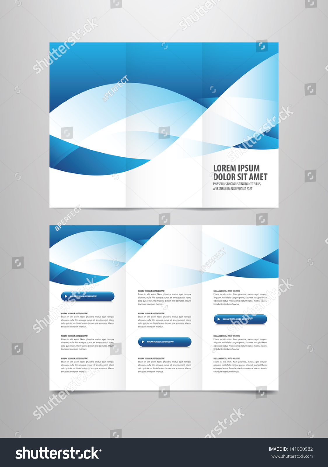 Tri fold business brochure template stock vector 141000982 tri fold business brochure template magicingreecefo Image collections