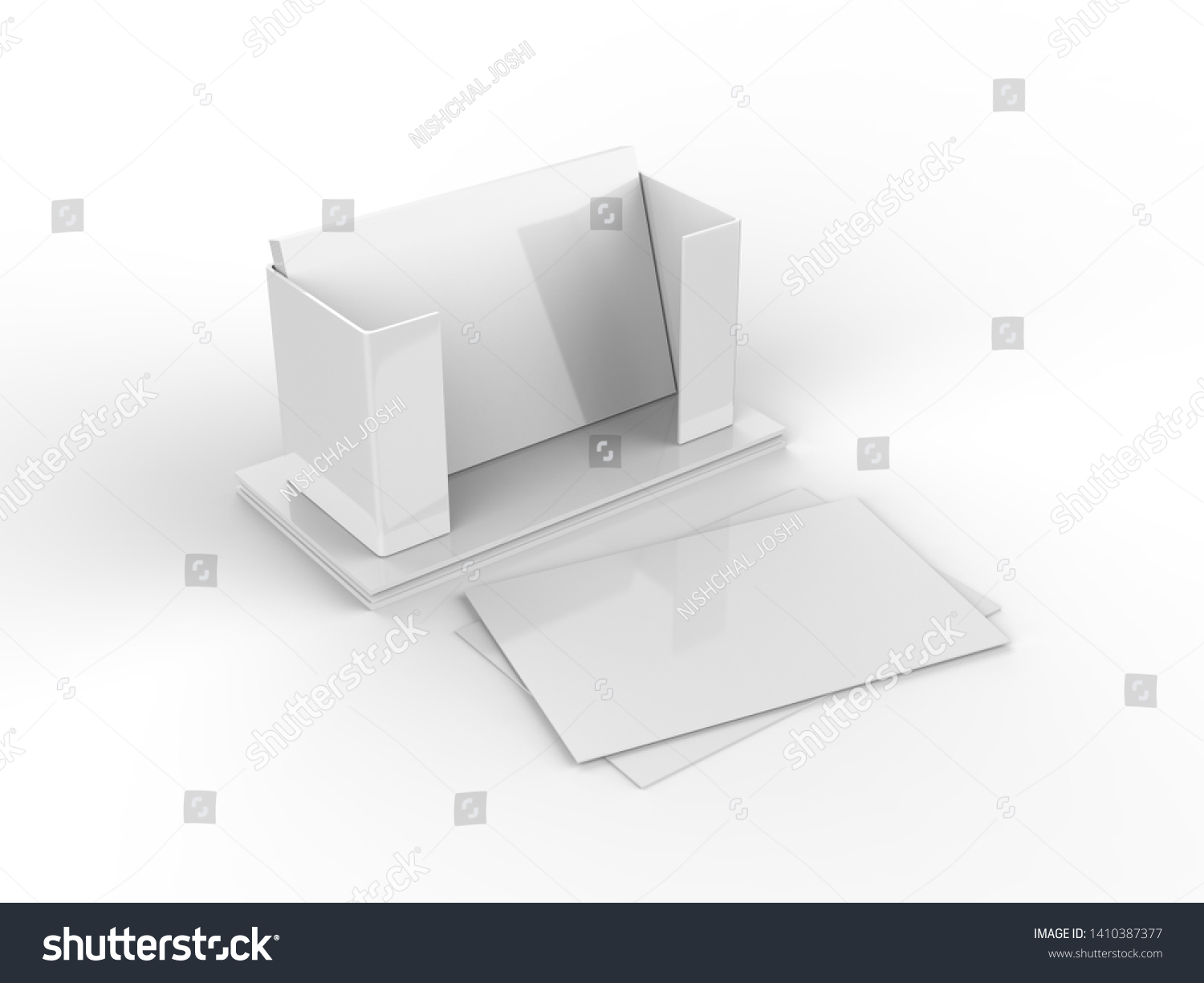 Business Card Holder Stand Mockup Template Stock Illustration Pertaining To Card Stand Template