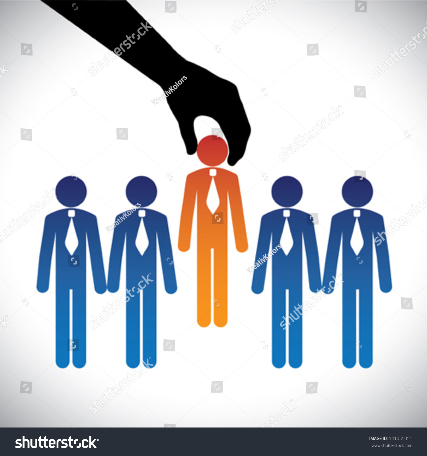concept vector graphic hiring selecting best stock vector concept vector graphic hiring selecting the best job candidate the graphic shows