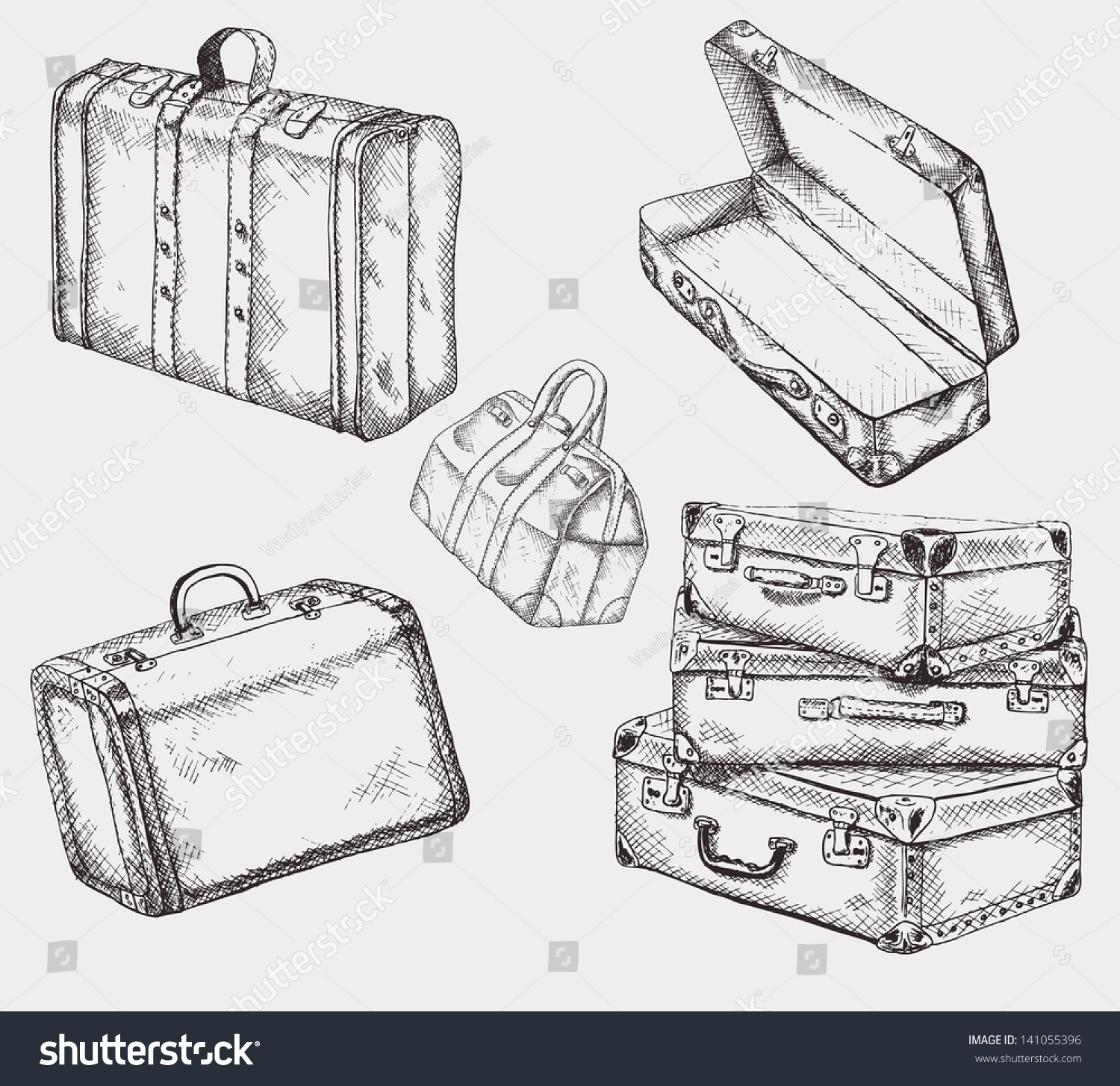 vintage suitcase collection