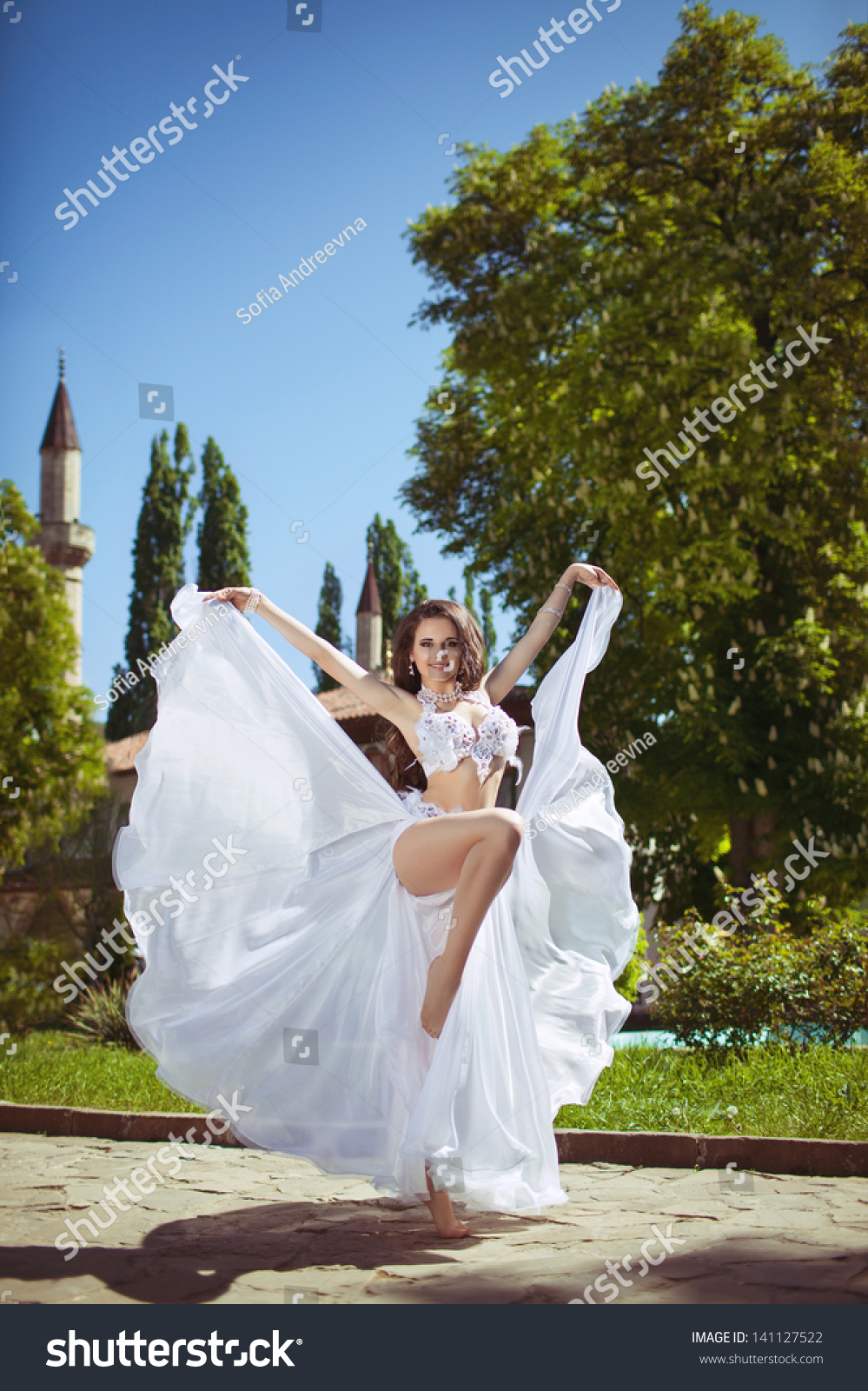Beautiful Woman Bride Bellydancer Sexy Belly Stock Photo Edit Now