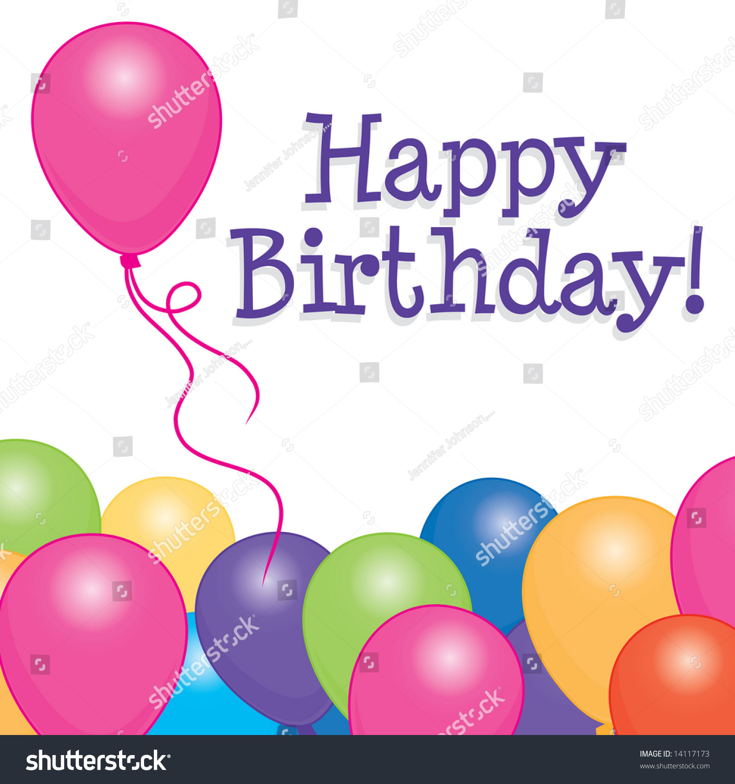 Happy Birthday Card / Background With Brightly Colored