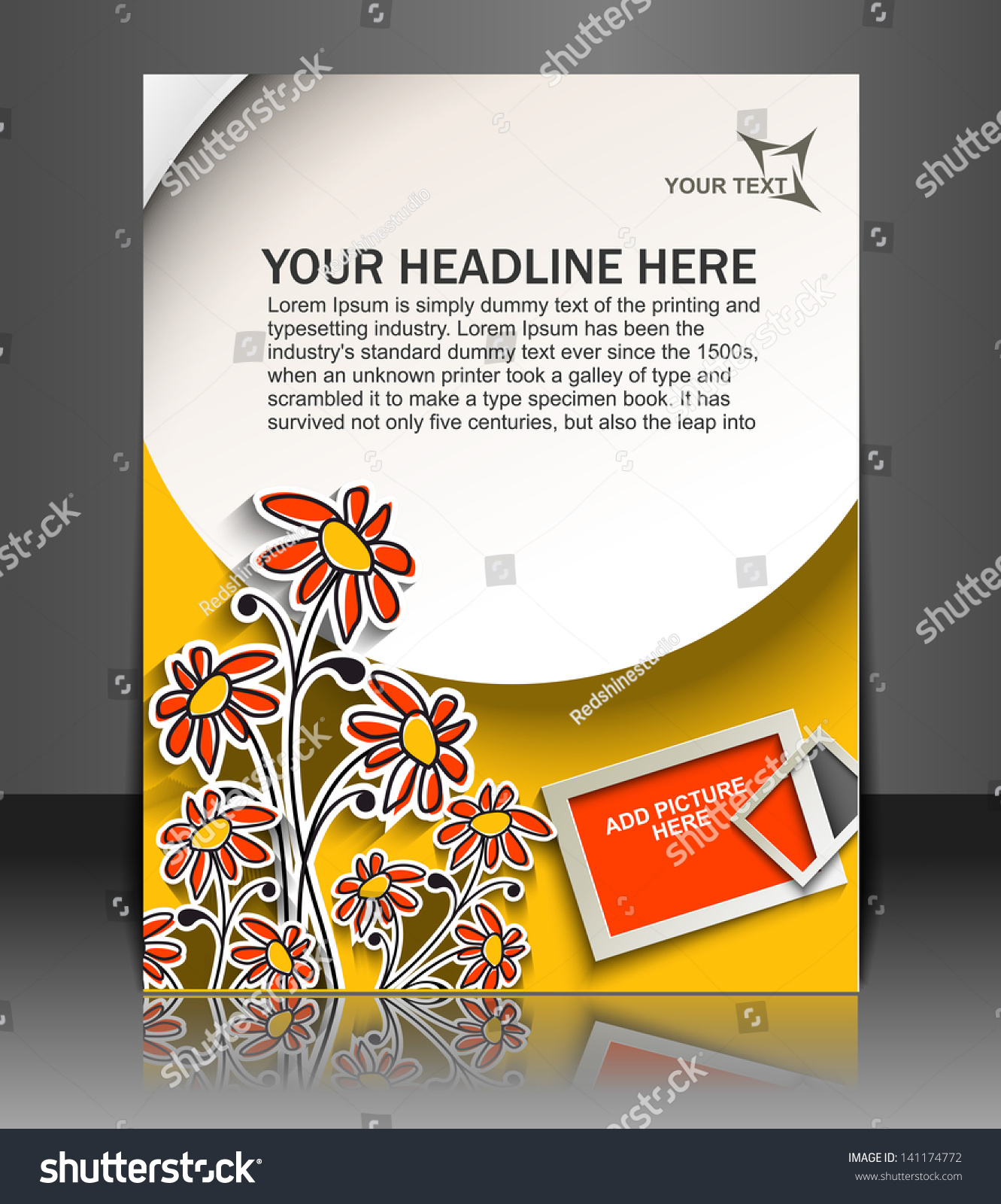 Vector Brochure Flyer Magazine Folder T Shirt Cover: Vector Brochure, Flyer, Magazine Cover & Poster Template