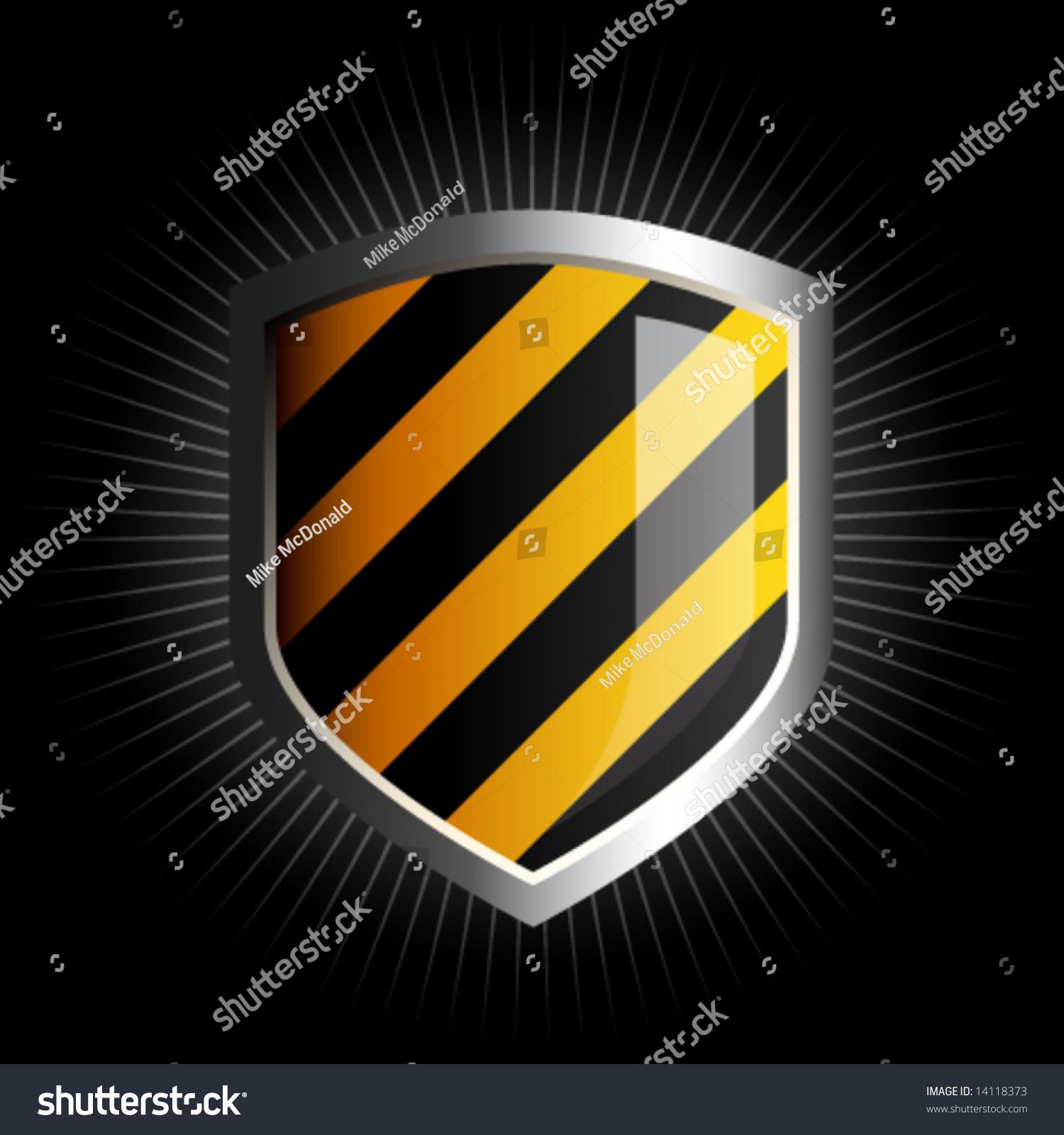 Black And Blue Striped Emblem - Interracial-5495