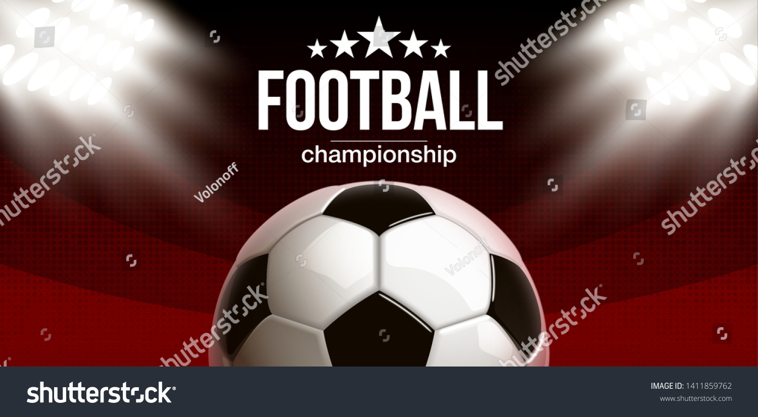 Football Modern Sports Poster Cup Design Stock Vector Royalty Free 1411859762