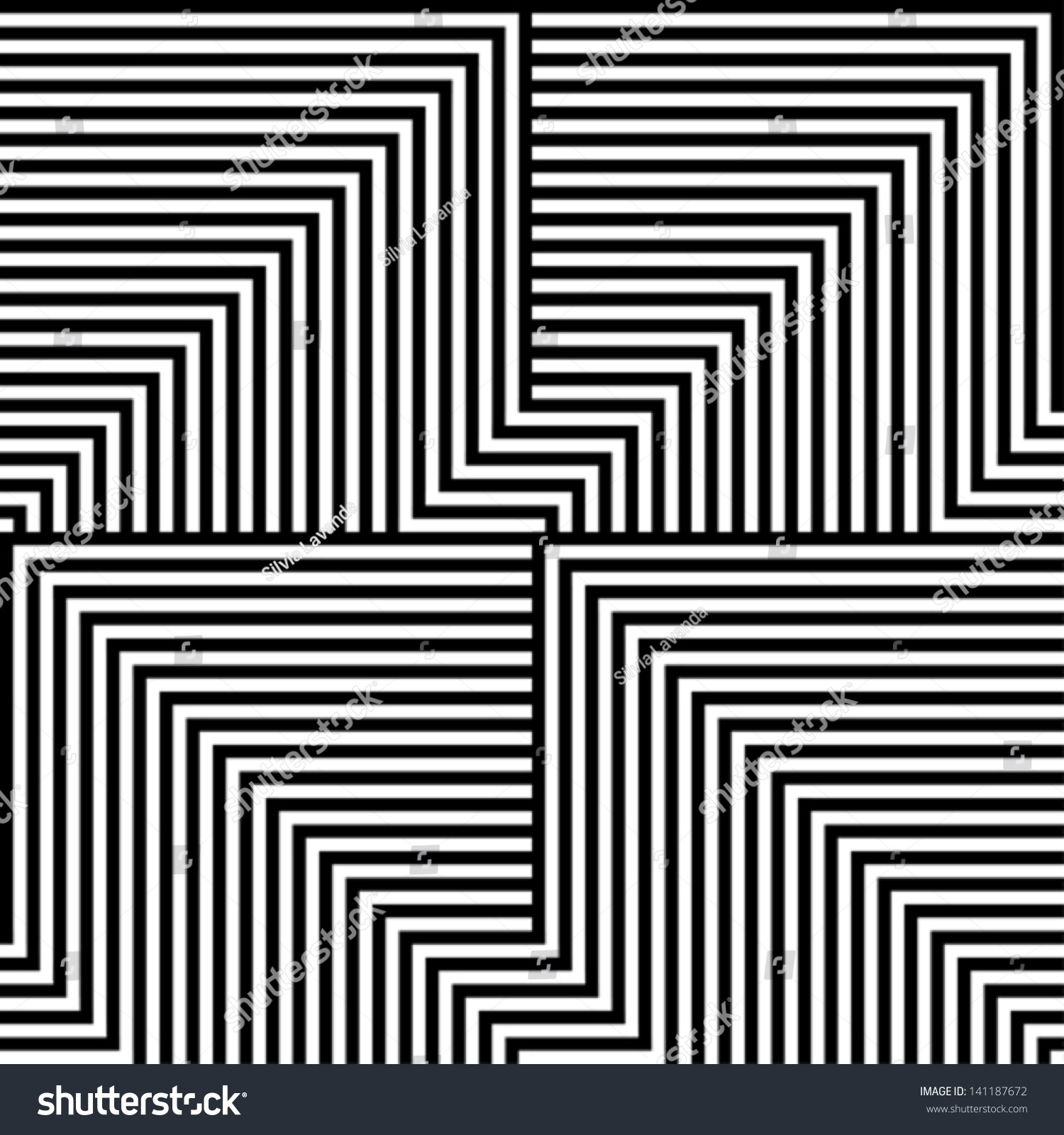 Black White Lines Pattern Stock Vector 141187672