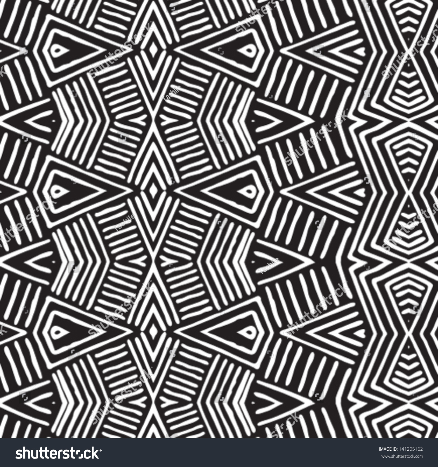 stock-vector-vector-african-pattern-seamlessly-tiling-seamless-pattern ... African Designs And Patterns