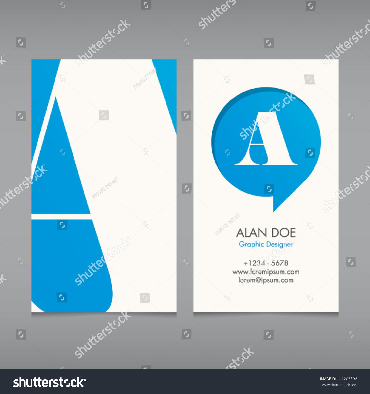 Business Card Vector Template Alphabet Letter Stock Vector ...