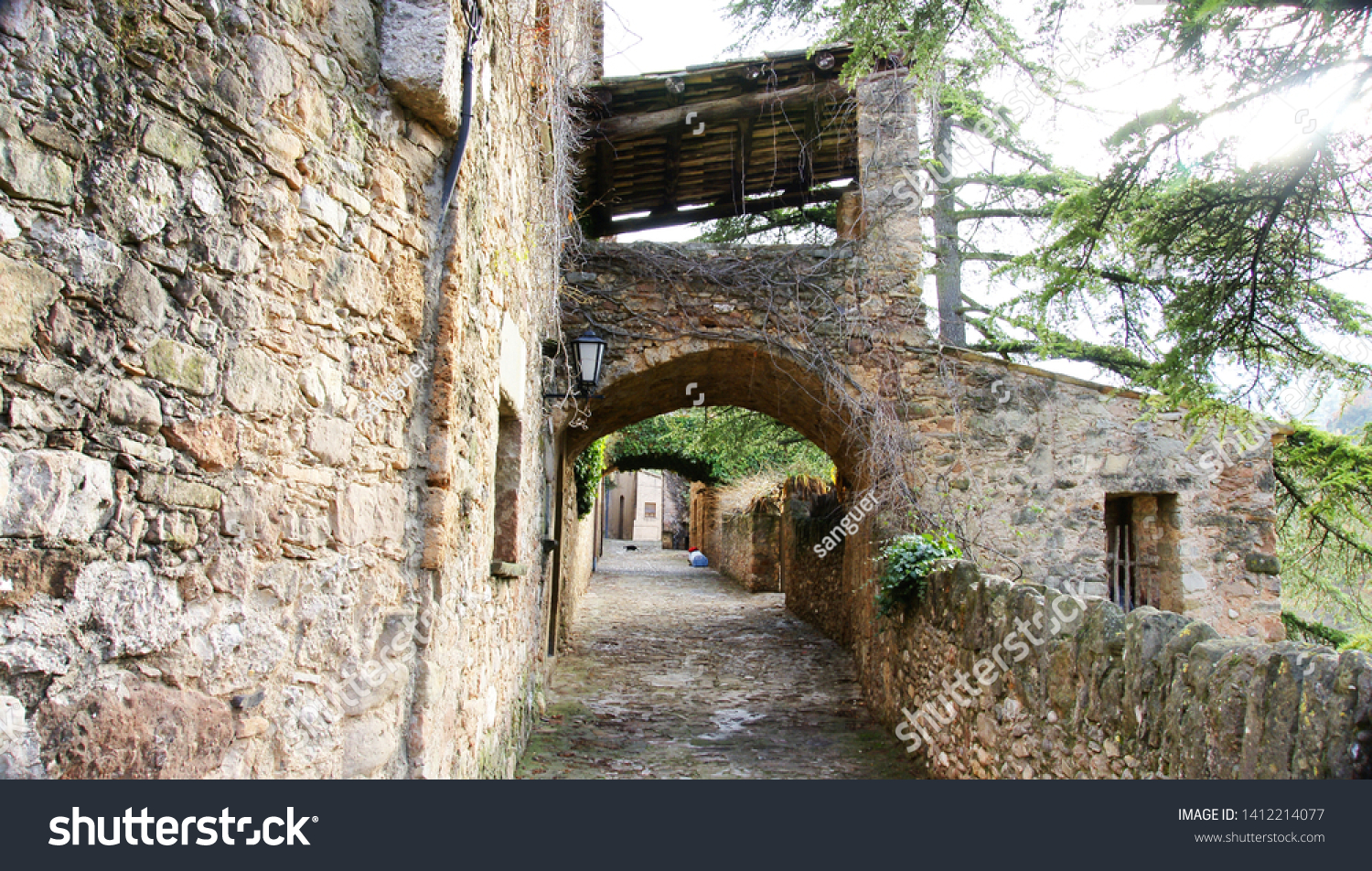 Mura Population Middle Ages Province Barcelona Stock Photo (Edit Now) 1412214077