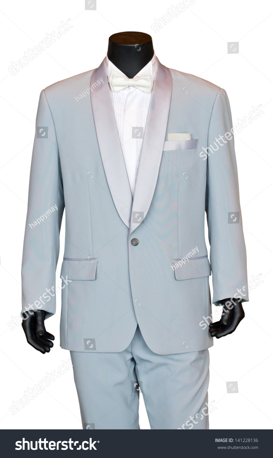 Grooms Wedding Suit On Mannequin Isolated Stock Photo (Download Now ...