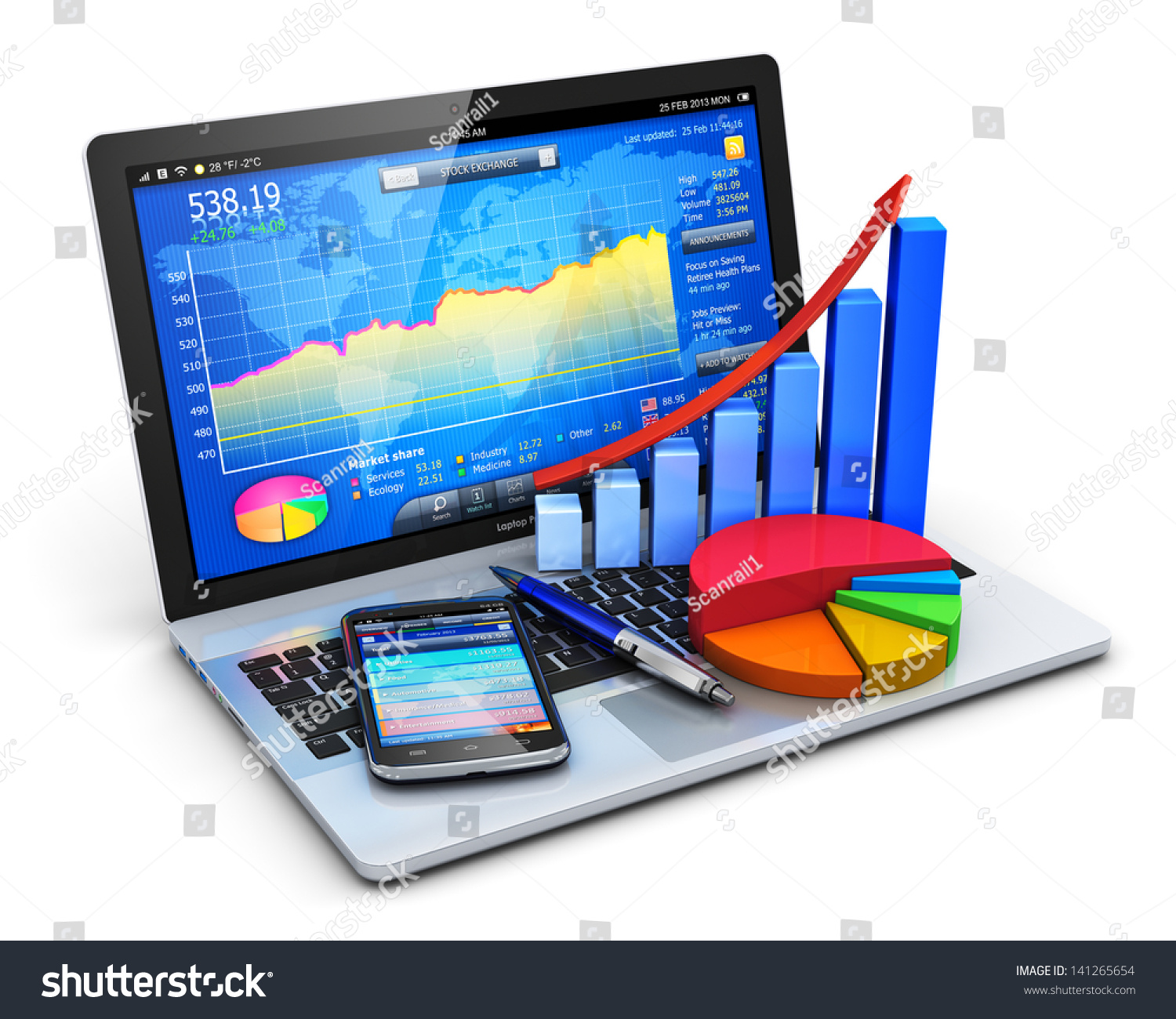 Bookkepping Andd Property Development : Mobile office stock exchange market trading