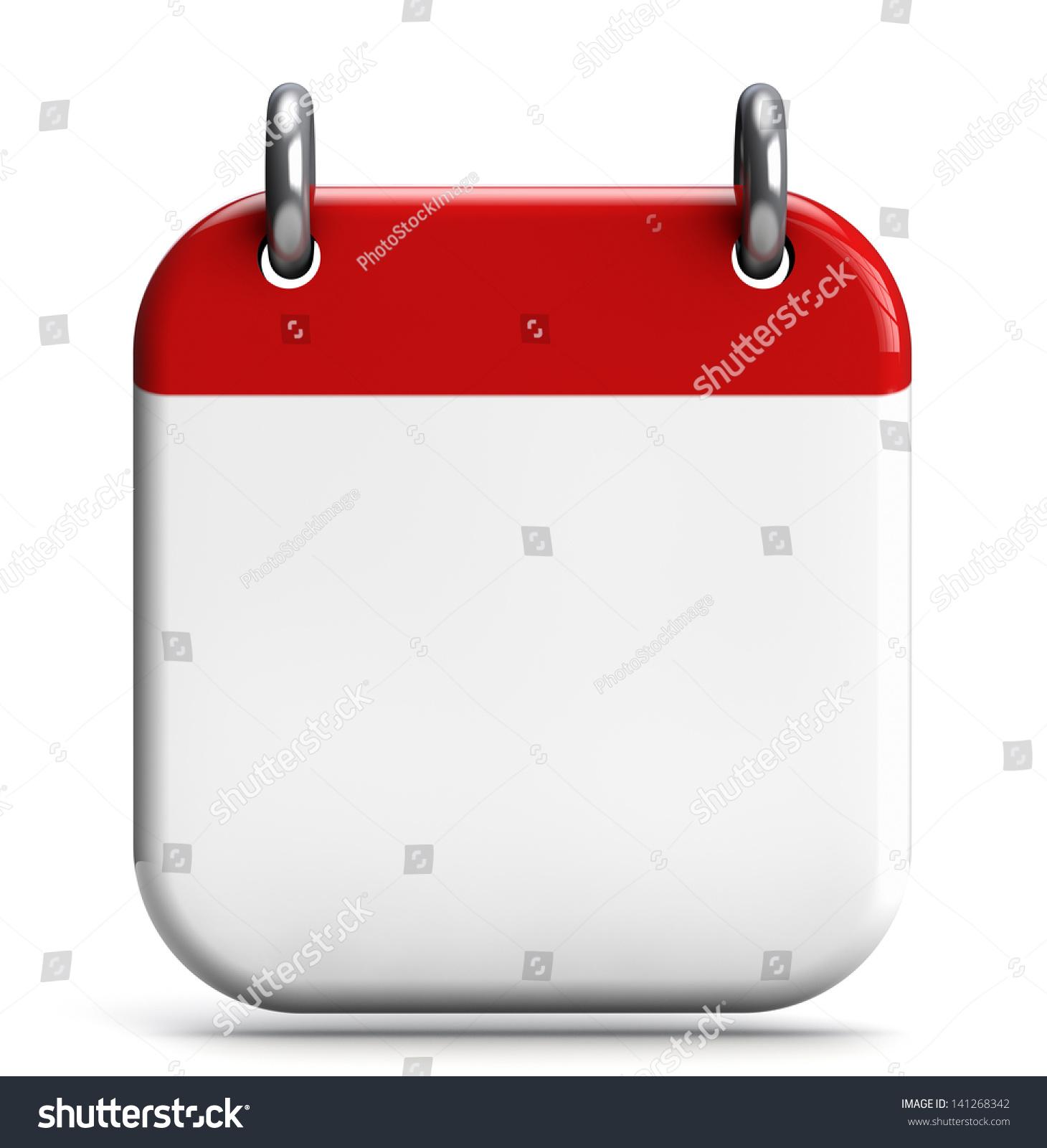 Blank Calendar Icon : Calendar blank d icon isolated on stock illustration