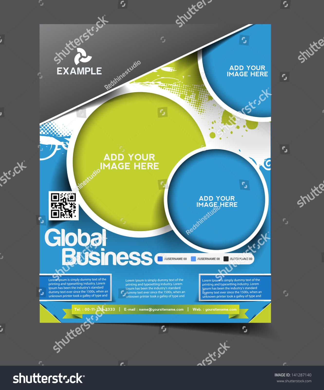 Vector Brochure Flyer Magazine: Vector Global Business Brochure, Flyer, Magazine Cover