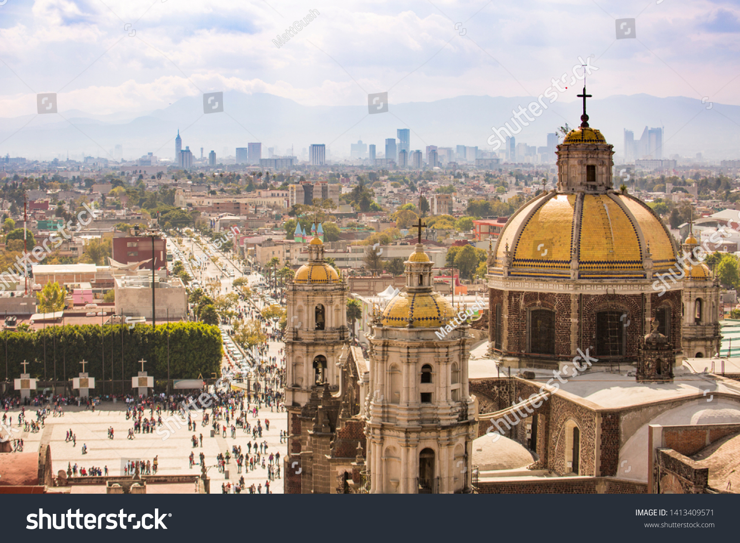View of the Basilica of Our Lady of Guadalupe complex. #1413409571