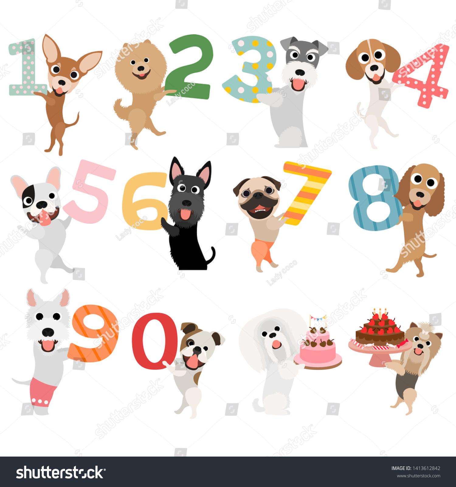 Birthday Dog Happy Birthday Dog Happy Stock Vector Royalty Free 1413612842