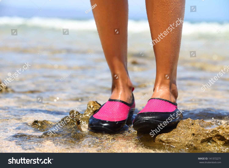 Water Shoes Swimming Shoe Pink Neoprene Stock Photo 141372271 ...