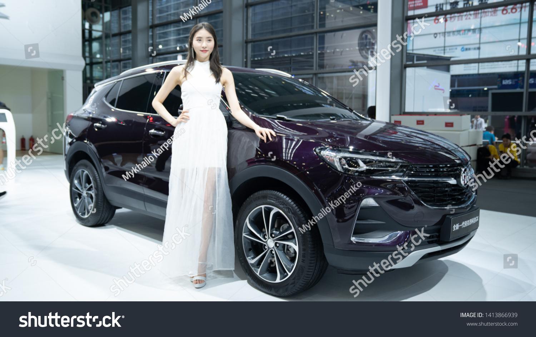 International Auto Show 2020.2020 Buick Envision 2019 International Auto Stock Photo