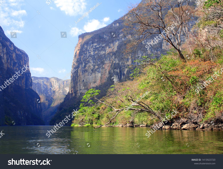 メキシコ、チアパス、ツクストラ・グティエレスに近いスミデロ峡谷 ...