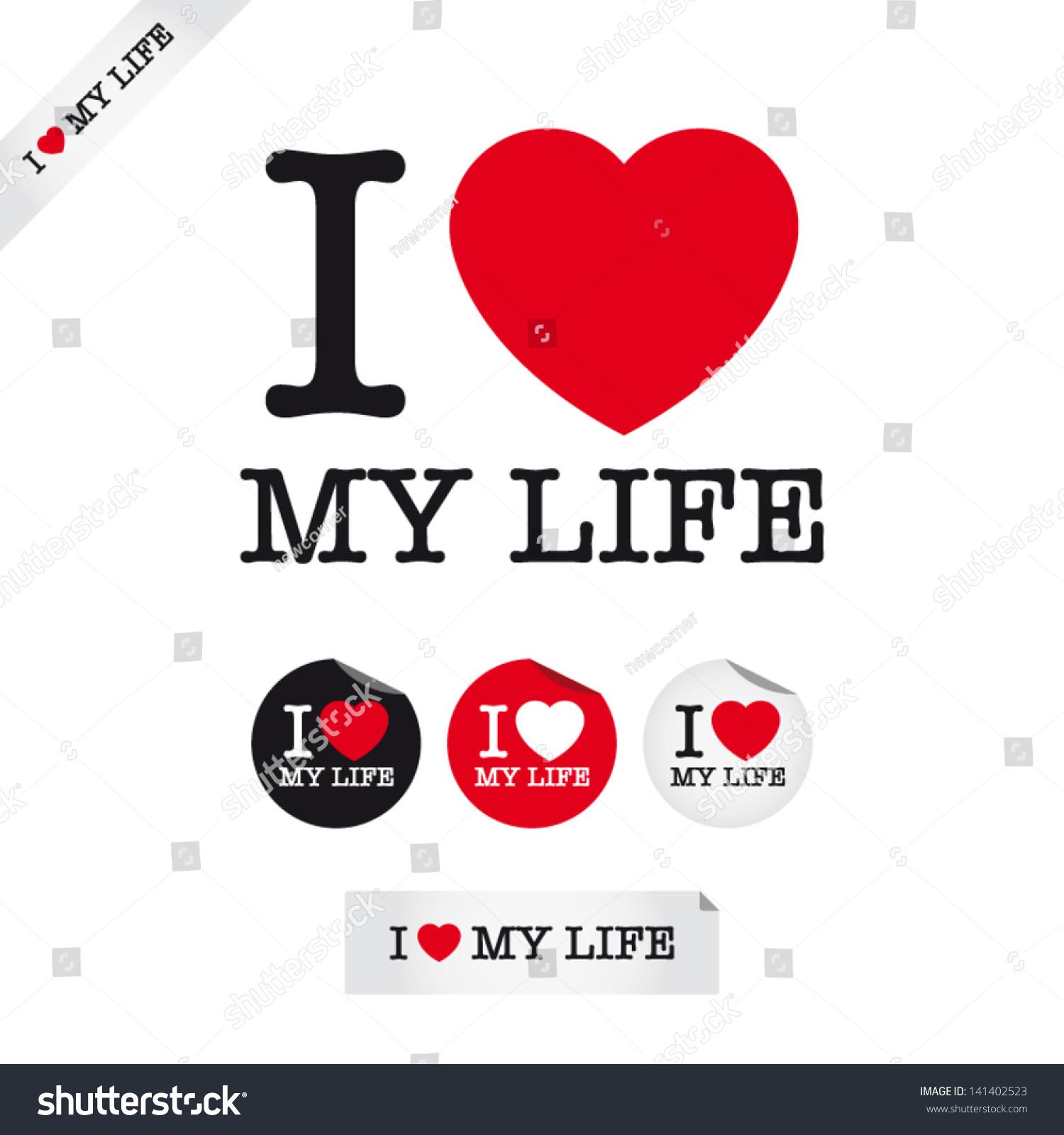 Life Font Love My Life Font Type Signs Stock Vektorgrafik 141402523