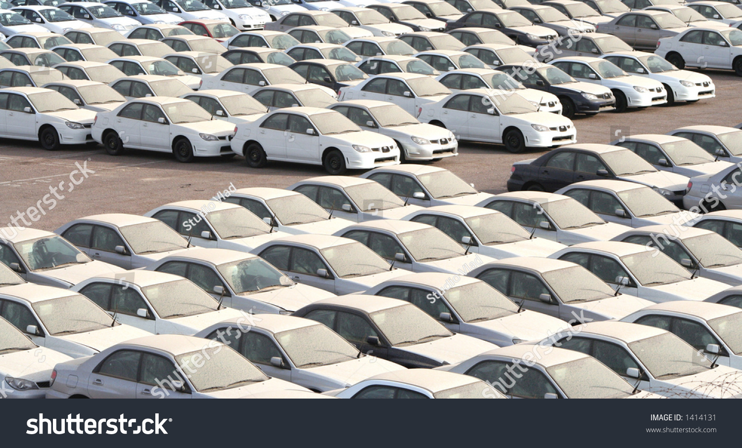 Rows New Imported Cars Port Stock Photo 1414131 Shutterstock