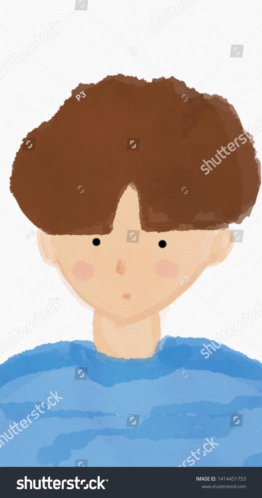 stock photo cute korean boy cartoon wallpaper 1414451753